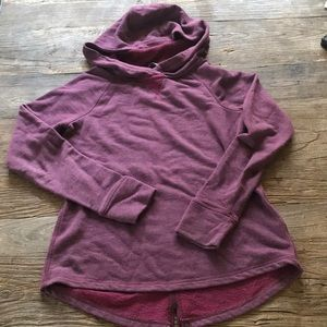 North Face Hooded Pullover Sweatshirt Plum Small